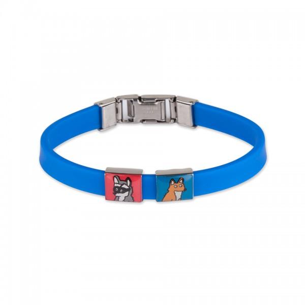 Sliders « Amis de la forêt » et bracelet bleu pour enfant