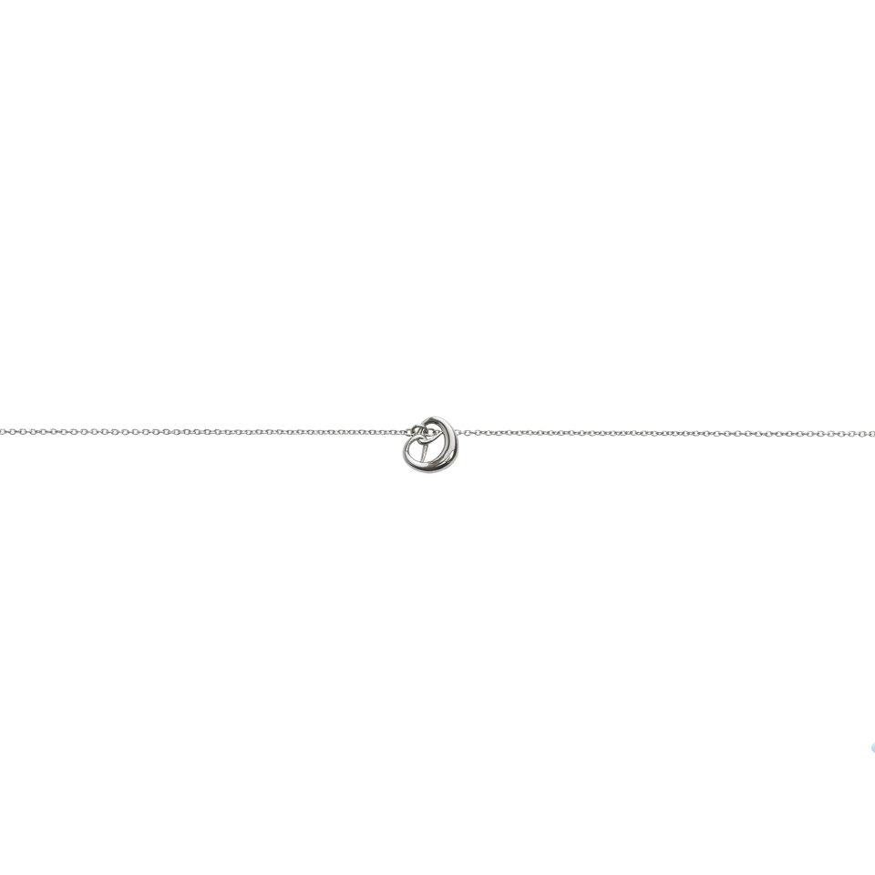 Pretzel Necklace little silver pretzel pendant