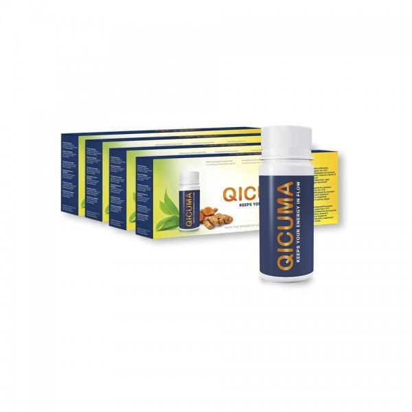 4-Wochen-Packung QICUMA (Nahrungsergänzungsmittel mit Pflanzenextrakten, Cholin, Q10, Zink, Magnesium und Vitaminen)